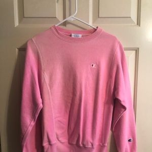 Urban outfitters Champion bright pink sweatshirt